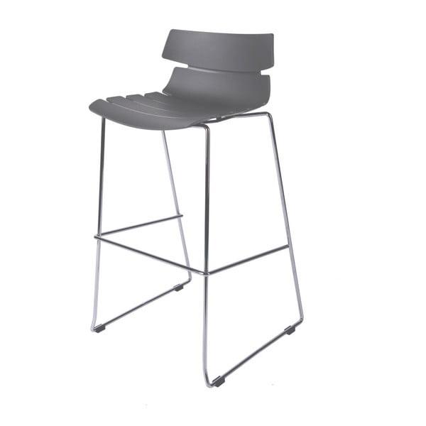Krzesło barowe D2 Techno, szare