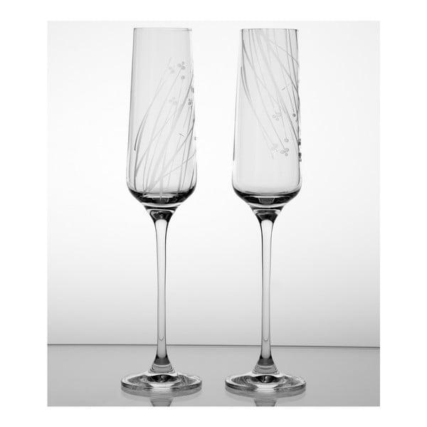 Zestaw 2 kieliszków do szampana Len