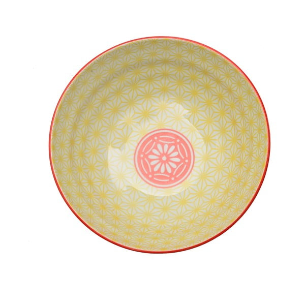 Porcelanowa miska Star Yellow, 21 cm