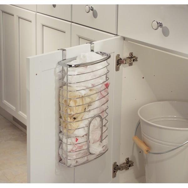 Metalowy koszyk na drzwi szafek kuchennych InterDesign Axis Holder