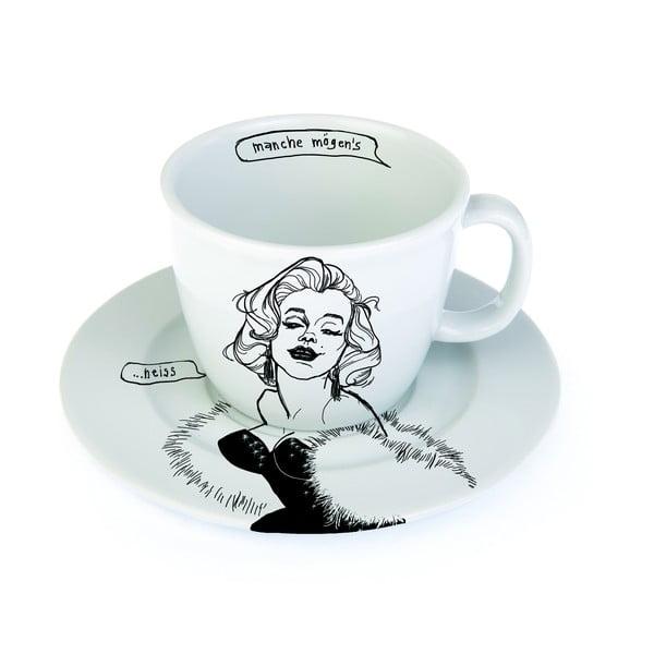 Kubek z talerzykiem Marilyn gorrrąca, po niemiecku