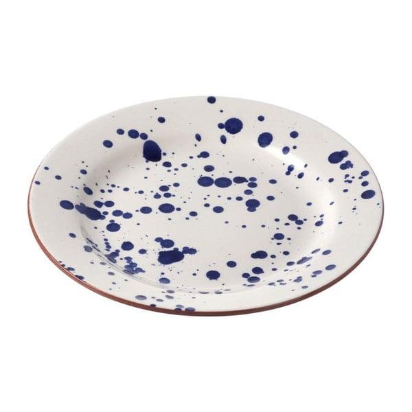 Talerz ceramiczny Blue Art, Ø 28 cm