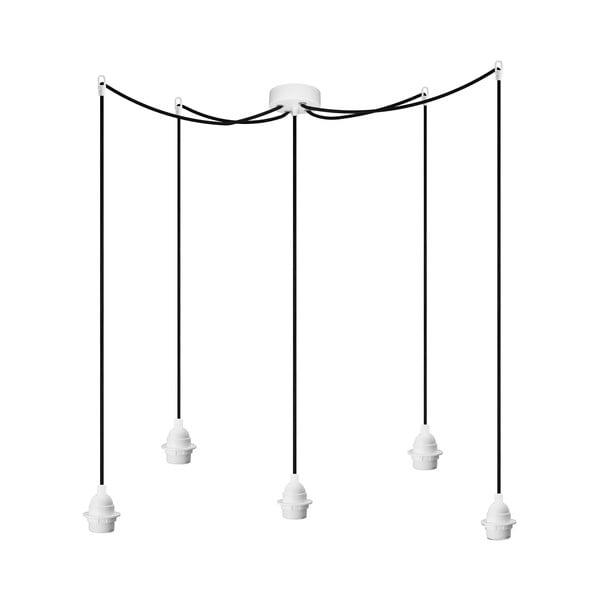 Lampa wisząca Uno Basic, biało-czarna