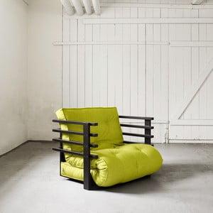 Fotel rozkładany Karup Funk Black/Pistacie