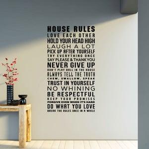 Naklejka Ambiance House Rule
