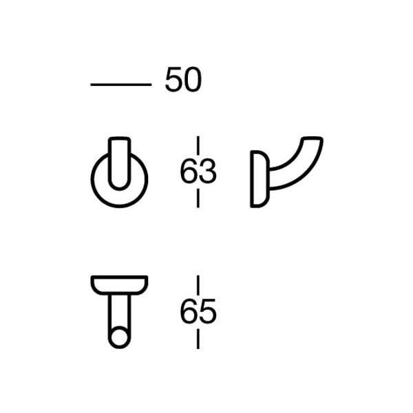 Wieszak Nikmatt Cloths, 5x6x6,5 cm