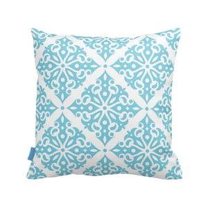 Turkusowo-biała   poduszka Deco Ornament no. 1, 43x43cm