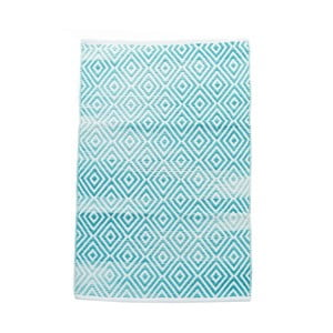 Dywan bawełniany InArt Marine, 150x210 cm, kremowy/miętowy