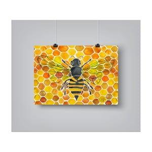 Plakat Americanflat Honey Bee Comb, 30x42 cm