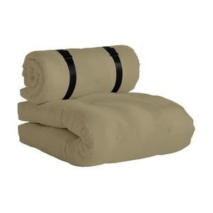 Beżowy fotel rozkładany odpowiedni na zewnątrz Karup Design OUT™ Buckle Up Beige