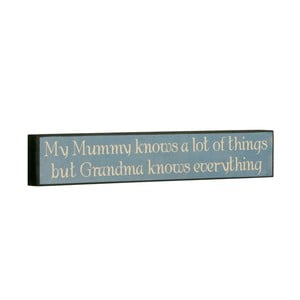 Tablica My mummy knows, 5x30 cm