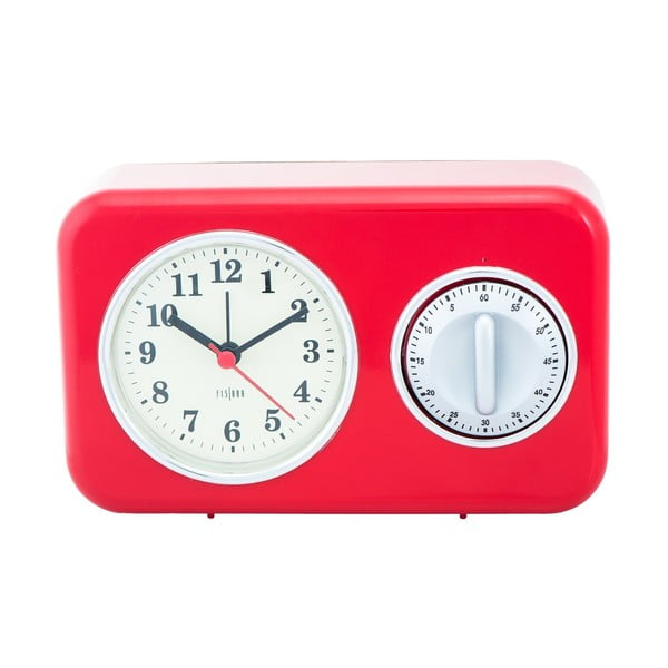 Zegarek kuchenny z minutnikiem Red Vintage