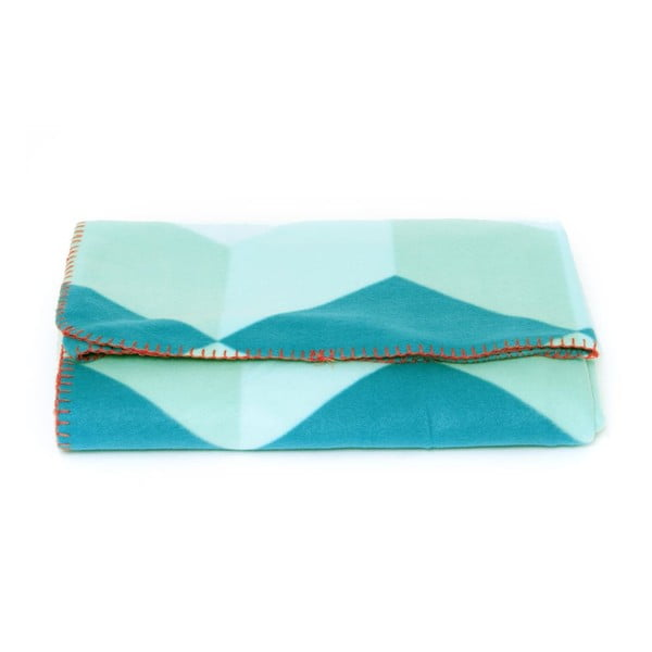 Koc flauszowy Block Blue, 180x150 cm
