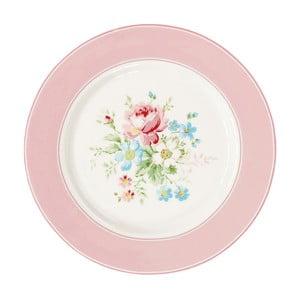 Talerz Green Gate Marie Pale Pink, 20,5 cm