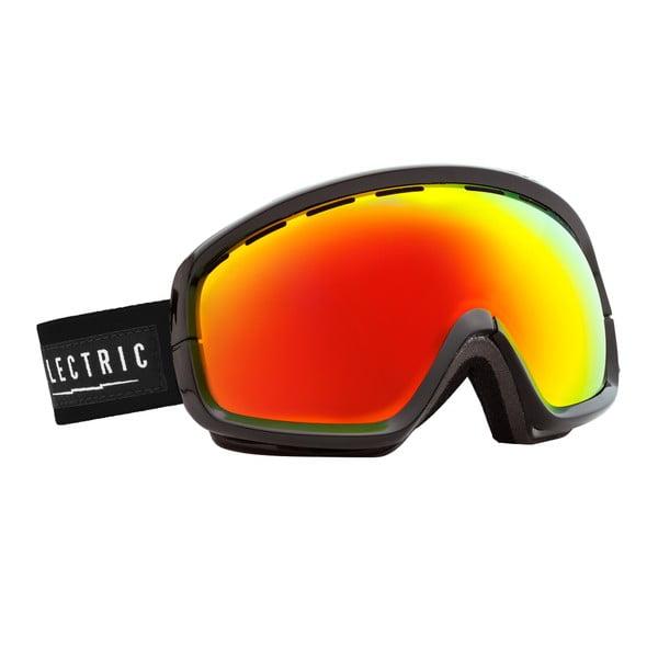 Gogle narciarskie Electric EGB2S Gloss Black Red z powłoką przeciwmgielną