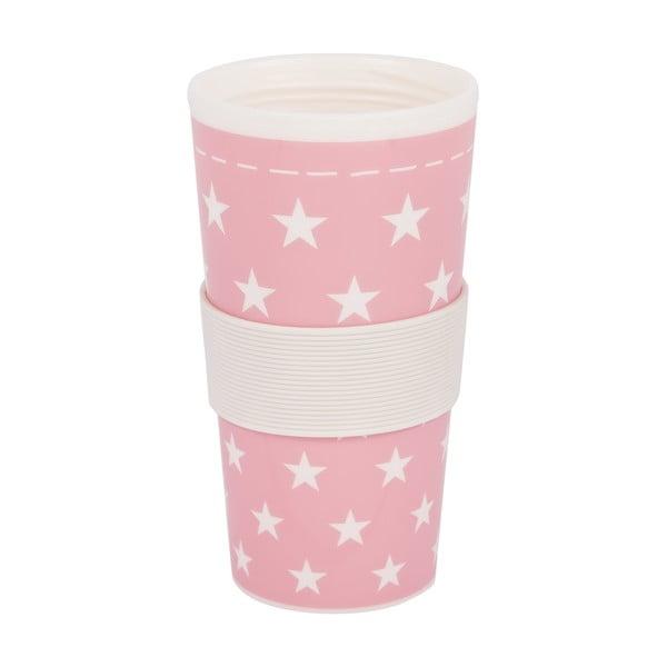 Plastikowy kubek podróżny Stars Rosa