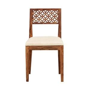 Krzesło z litego drewna palisandru Massive Home Rosie