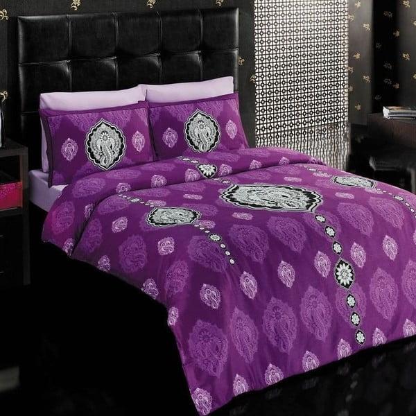 Komplet pościeli Vals Purple, 200x220 cm