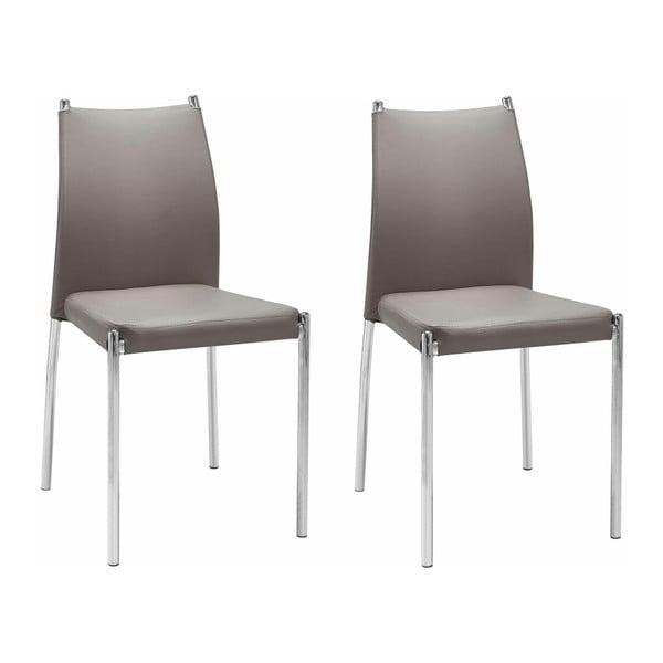 Zestaw 2 brązowych krzeseł Støraa Zulu