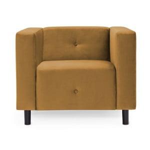 Musztardowy fotel Vivonita Milo