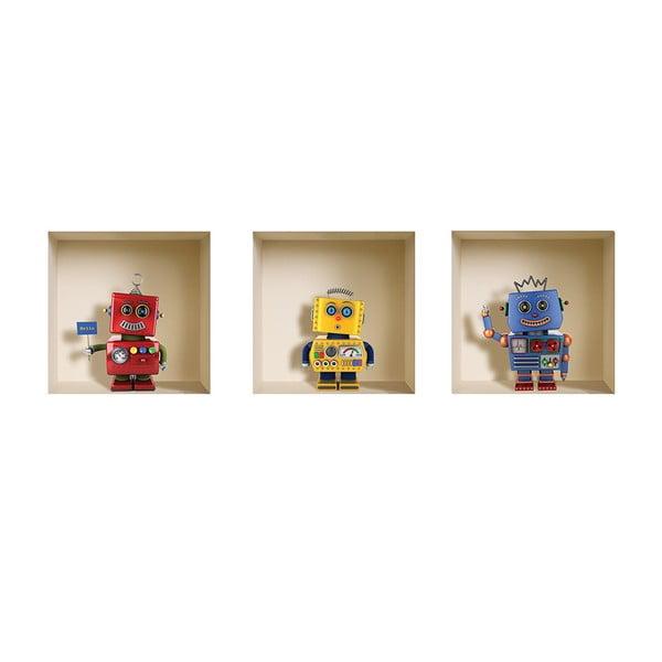 Naklejki 3D na ścianę Robots