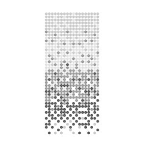 Zasłona prysznicowa White&Grey Dotted