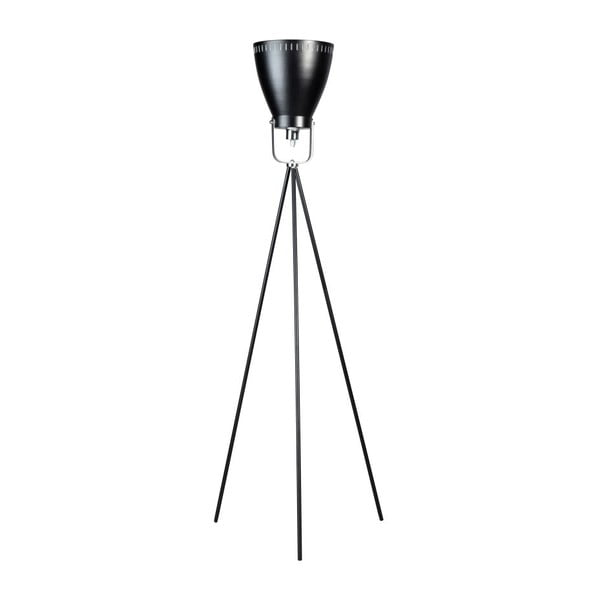 Czarna trójnożna lampa stojąca ETH Acate Industri