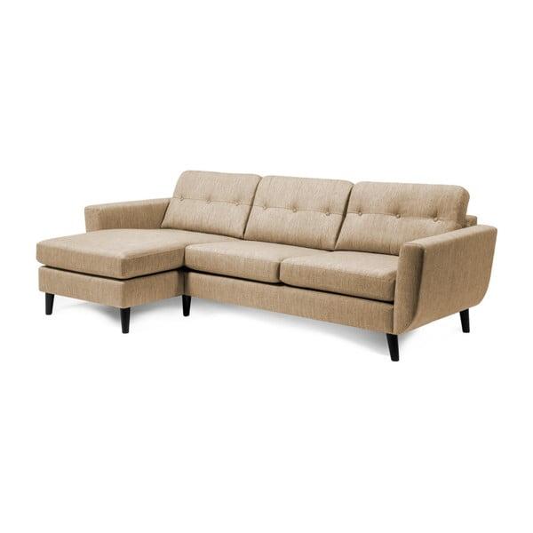 Beżowa sofa z szezlongiem po lewej stronie Vivonita Harlem