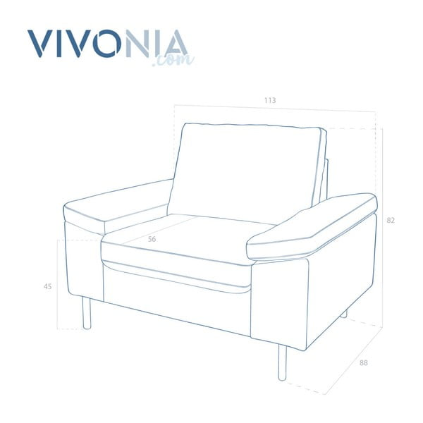 Beżowy fotel Vivonita Nathan