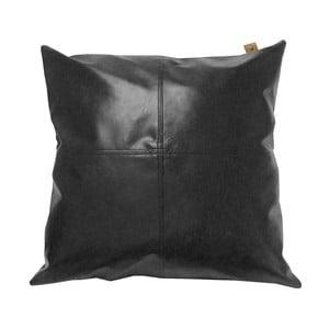 Poduszka Overseas Vintage Leather Black, 45x45 cm