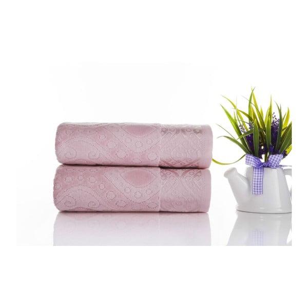 Zestaw 2 ręczników Sal Pink, 50x90 cm