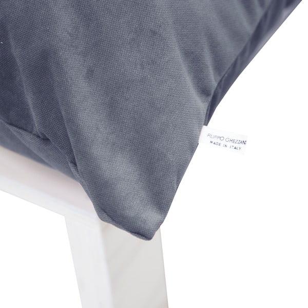 Fotel z poduszkowym oparciem Tanzania Gray