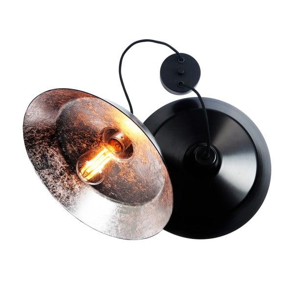 Lampa wisząca z 2 czarnymi kablami i kloszami w czarnym oraz srebrnym kolorze Bulb Attack Cinco