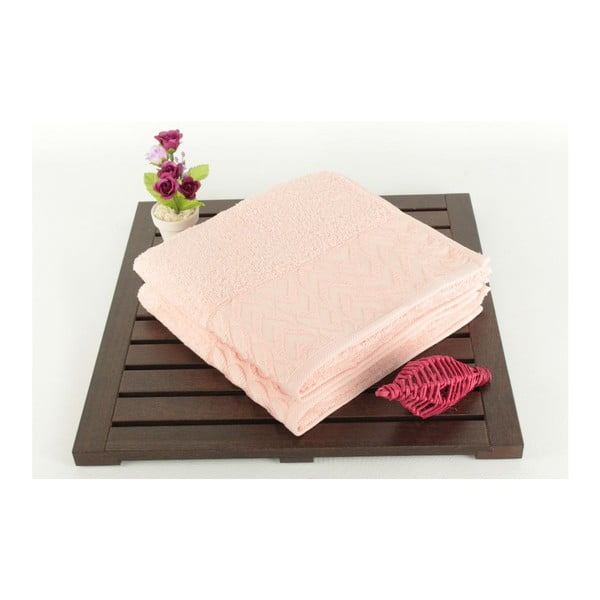 Zestaw 2 ręczników Kalp Pink, 50x90 cm