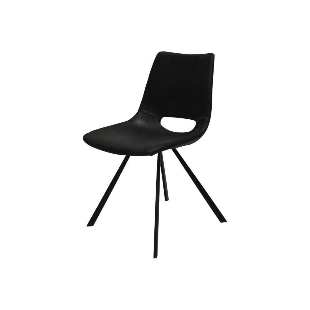 Czarne krzesło z czarnymi nogami Canett Coronas