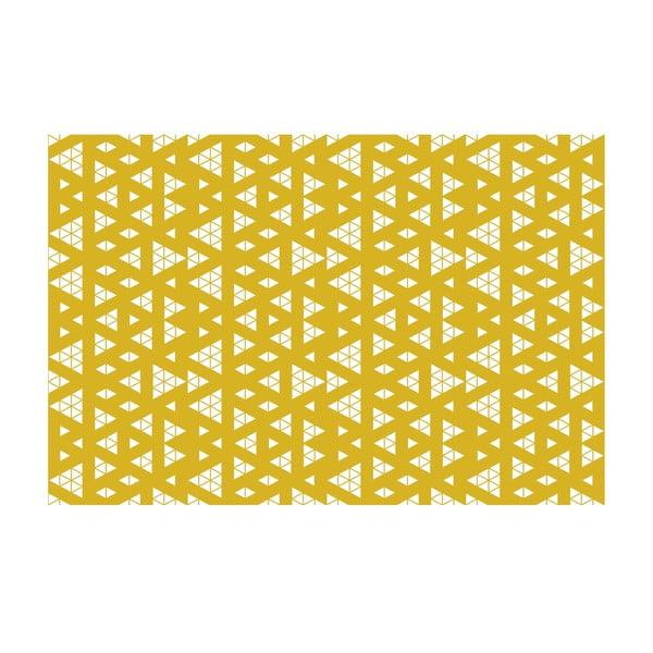 Winylowy dywan Triangle Adiction Ocre, 133x200 cm