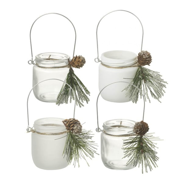 Zestaw 4 świeczników Parlane Pine