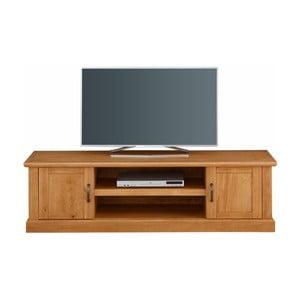 Szafka pod TV z litego drewna sosnowego Støraa Marika