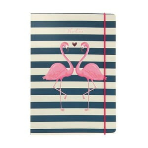 Notes A5 Go Stationery Flamingo Stripes