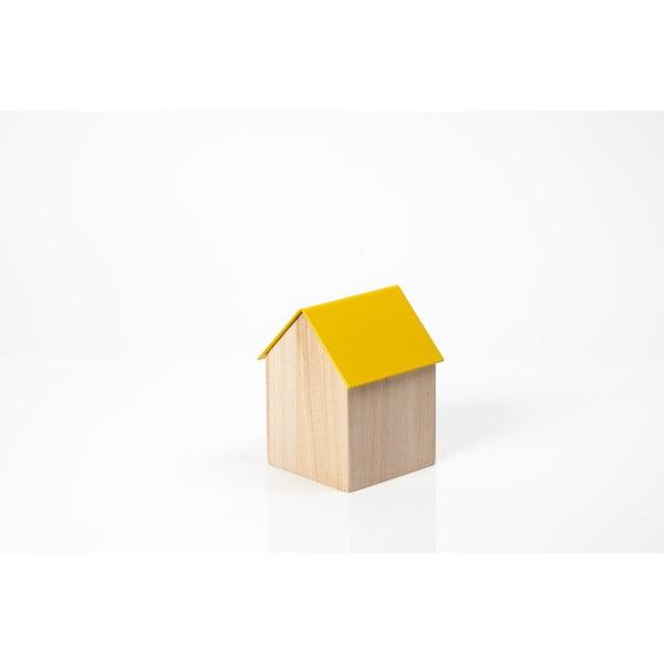 Żółta  pudełko House Small