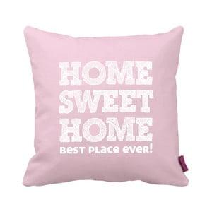 Różowo-biała  poduszka Homemania Home Pink, 43x43cm
