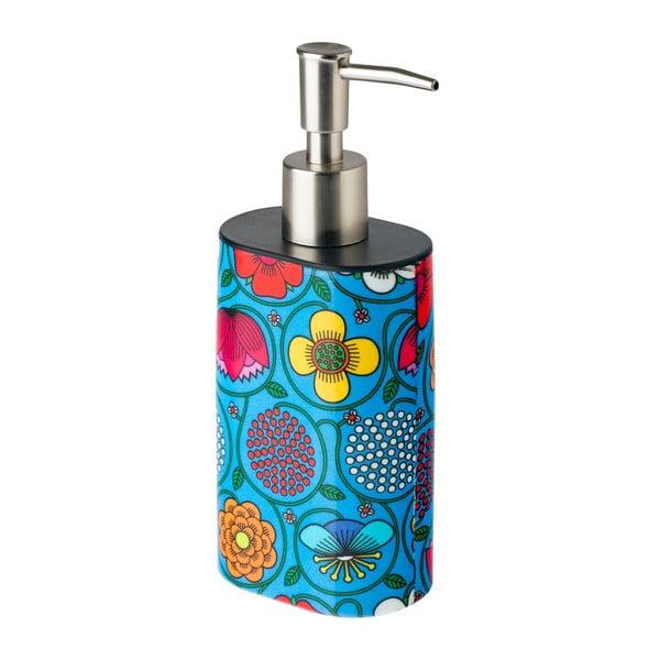Niebieski dozownik do mydła Vigar Flower Power