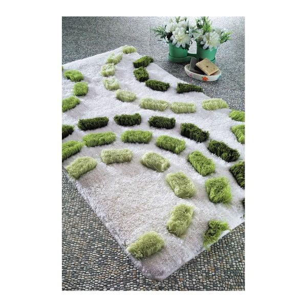 Dywanik łazienkowy Arinna Green, 60x100 cm