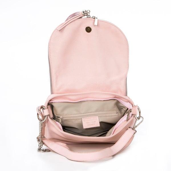 Skórzana torebka Paolo, pudrowa