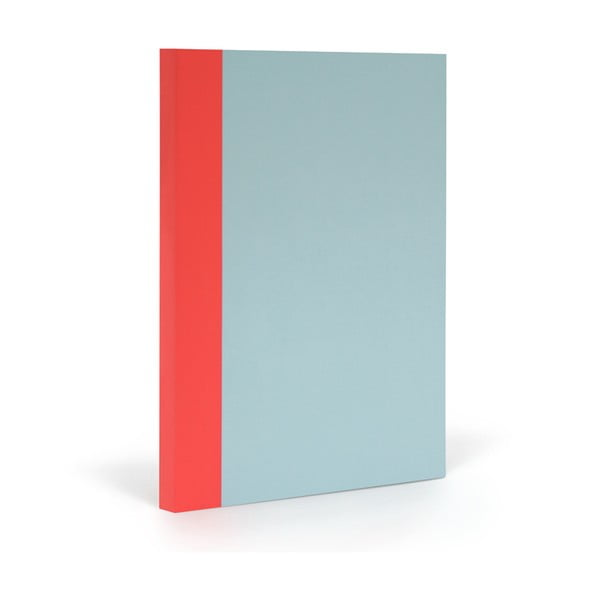 Notes FANTASTICPAPER XL Skyblue/Warm Red, w kratkę