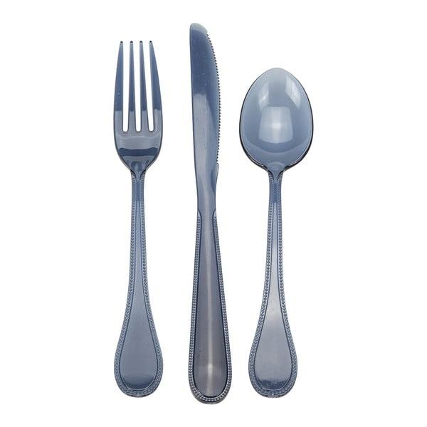 Sztućce akrylowe, 3 szt. Style Blue
