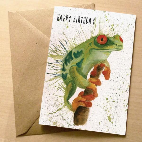 Kartka okolicznościowa Wraptious Splatter Frog Birthday