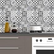 Zestaw 60 samoprzylepnych naklejek dziecięcych Ambiance Elegant Tiles Shade of Gray, 10x10 cm