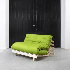 Sofa rozkładana Karup Roots Raw/Lime