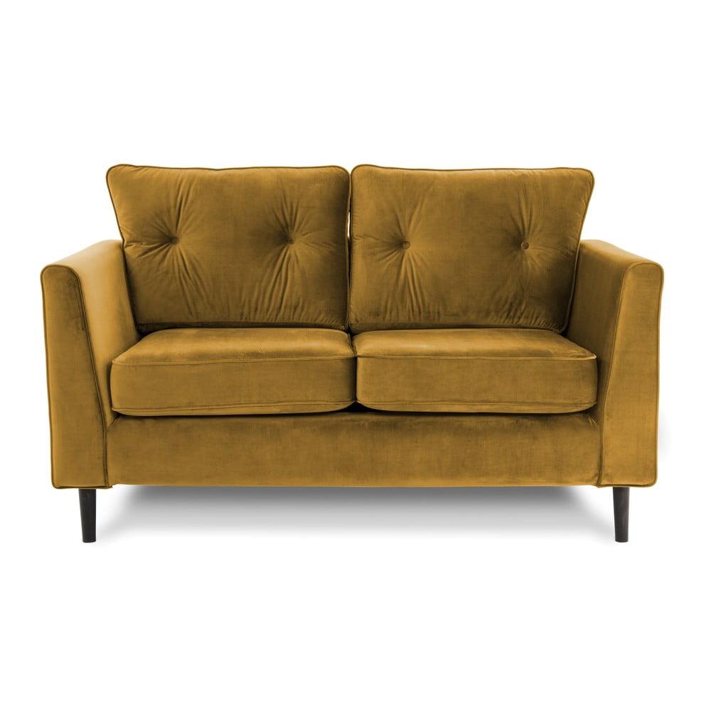 Żółta sofa dwuosobowa VIVONITA Portobello